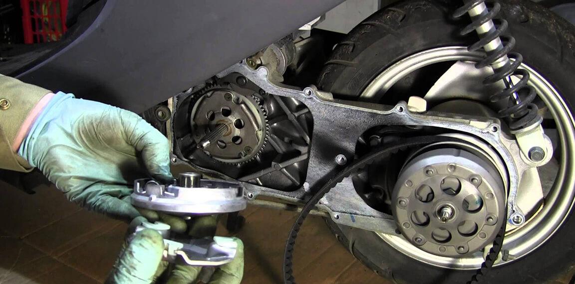 Скутер ремонт сцепления своими руками